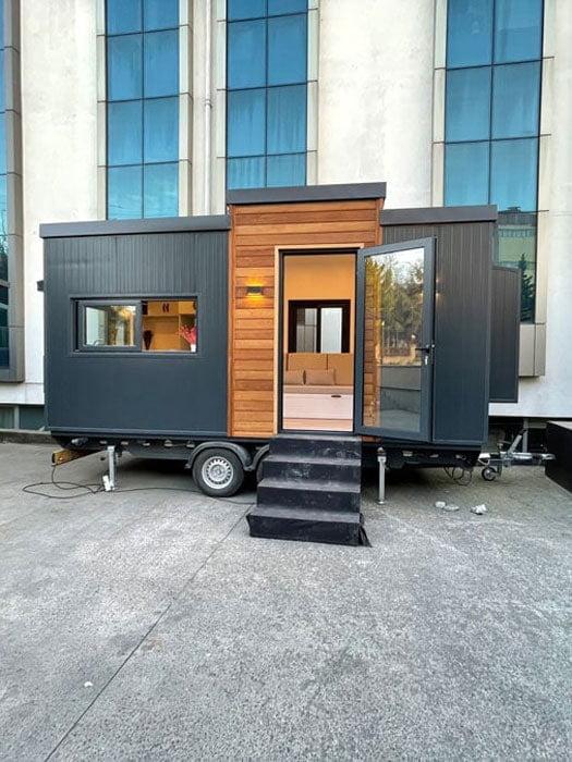 tiny house tekerlekli ev mobil ev Kapı