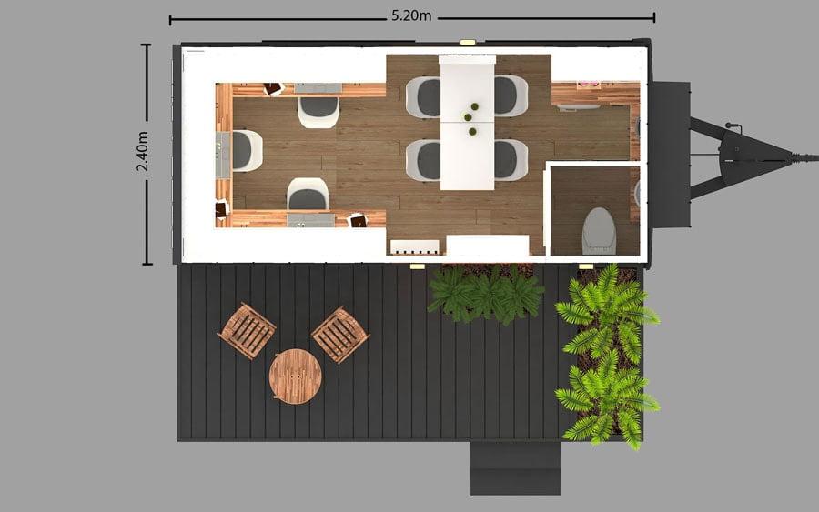 tiny house tekerlekli ev mobil ev ofis hane